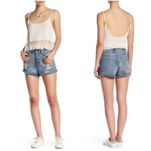 Abound Shorts - Abound High Rise Cut Off Denim Blue Jean Shorts